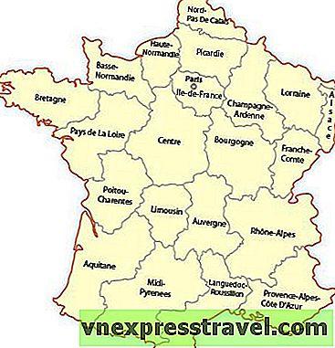 Regionalna Karta Francuske Europa Putovanja